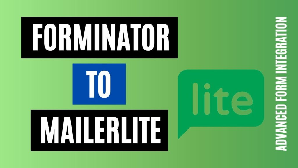 How to integrate Forminator to MailerLite Easily